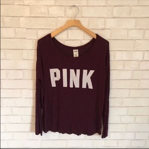 PINK Bu Victoria's Secret Long Sleeve Slouchy Top